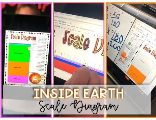 Inside earth scale diagram banner